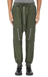 Nlst Men's Cotton Harem Flight Pants Green Dark Green Green Dark Green