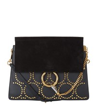 Chloe Medium Faye Circle Stud Bag Female Black