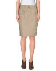 Trussardi Jeans Skirts Knee Length Skirts Women Beige