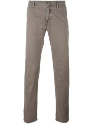 Barba Slim Fit Chinos Green