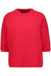 Giambattista Valli Angora Blend Sweater Red