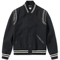 Saint Laurent Stud Teddy Jacket Black