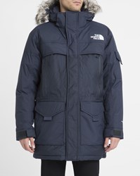 The North Face Navy 550 Mcmurdo 2 Removable Fur Hood Long Down Parka Blue