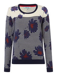Dickins And Jones Stripe And Floral Jumper Multi Coloured
