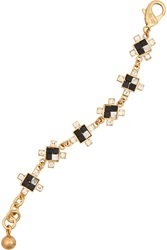 Lulu Frost Terraced Gold Plated Howlite And Crystal Bracelet