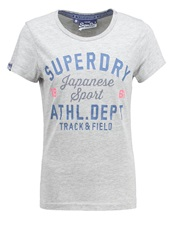 Superdry Track State Entry Print Tshirt Grey Marl