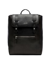 Diesel Leather Beat Beat Flap Black