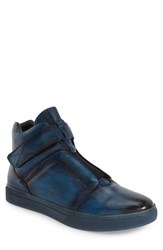 Men's Jump 'Scully' High Top Sneaker Navy Leather
