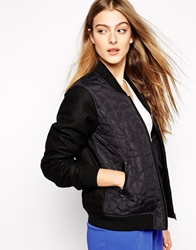 2Nd Day Bomber Jacket With Embroidery Black