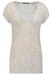 Bruuns Bazaar Aubries Basic Tshirt Egret Mottled Light Grey
