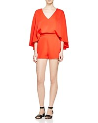 Romeo And Juliet Couture Draped Cape Romper Compare At 240 Red