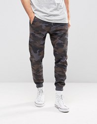 Pull And Bear Pullandbear Skinny Joggers In Blue Camo Blue Camo
