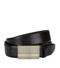 Boss Buxton Leather Belt Unisex Black