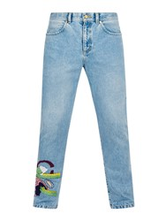 House Of Holland Addison Embroidered Jeans Blue