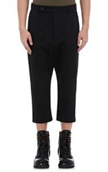Rick Owens Drop Rise Crop Trousers Black