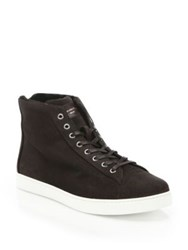 Gianvito Rossi Suede High Top Sneakers Brown