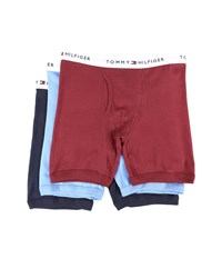 Tommy Hilfiger Cotton Boxer Brief 3 Pack Garnet Men's Underwear Red