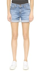 Ag Jeans The Hailey Ex Boyfriend Roll Up Shorts 13 Years Abyss Blue
