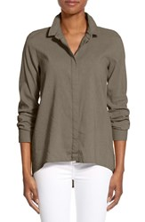 Women's Eileen Fisher Organic Linen Blend Classic Collar Shirt Oregano