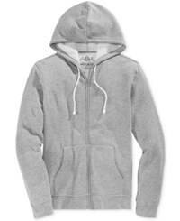 American Rag Men's Big And Tall Faux Fleece Full Zip Hoodie Only At Macy's Heather Grey