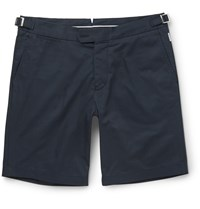 Orlebar Brown Norwich Cotton Twill Shorts Blue