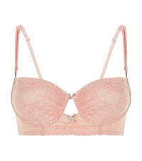 Heidi Klum Intimates Lace Cut Out Underwired Padded Bra Female Pink
