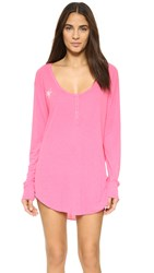 Wildfox Couture Overslept Summer Sleep In Shirt Neon Sign Pink