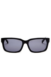 Cole Haan Men's Rectangle Sunglasses Black