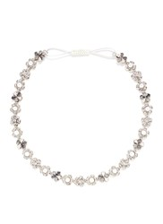 Erickson Beamon 'Til Death Do Us Part' Swarovski Crystal Glass Pearl Headband White Metallic