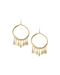 Lydell Nyc Golden Bangle Hoop Earrings