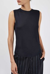 Raw Edge Jersey Tank By Boutique Navy