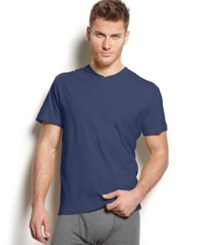 Alfani Men's V Neck T Shirt Only At Macy's Navy Heather
