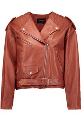 Isabel Marant Audric Leather Jacket Brick