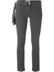 Jacob Cohen Scarf Detail Skinny Jeans Grey