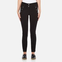 Versus By Versace Women's Studded Pocket Jeans Black