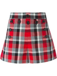 Marc Jacobs 'Sailor' Check Shorts Red