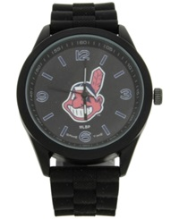 Game Time Cleveland Indians Pinnacle Watch Black