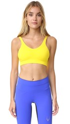 Lucas Hugh Technical Knit Sports Bra Yellow