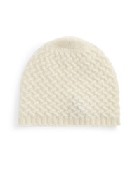Lord And Taylor Cashmere Knit Beanie Ivory