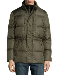 Marc By Andrew Marc New York Men's Quilted Blizzard Parka Olive Green