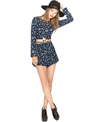 Pixie Market Lucille Stars And Moon High Waisted Shorts
