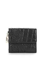 Versace Leather Quilted Wallet Black