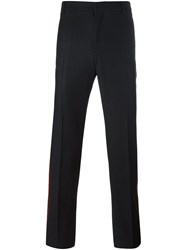 Givenchy Velvet Trim Trousers Black