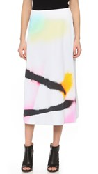 Josh Goot Printed Skirt Spray White