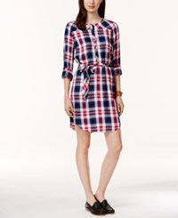 G.H. Bass And Co. Long Sleeve Plaid Shirt Dress
