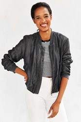Bdg Chambray Drapey Bomber Jacket Black