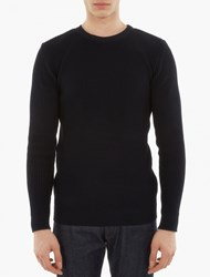 S.N.S. Herning Navy Ribbed Cotton Sweater