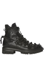 Dsquared Lace Up Leather Combat Boots