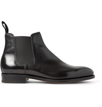 John Lobb Lawry Polished Leather Chelsea Boots Black