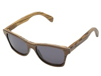 Shwood Canby Zebrawood Grey Sport Sunglasses Gray